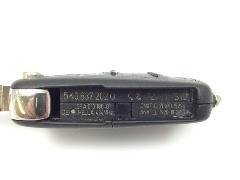how to change vw remote battery
