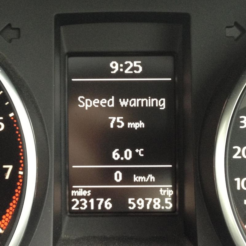 How to set a speed warning on your VW dashboard