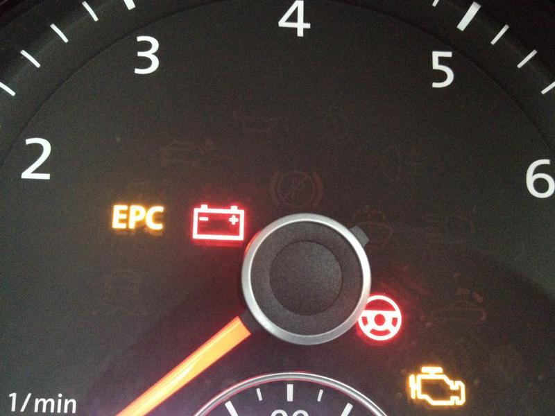 volkswagen passat 2004 dashboard warning lights